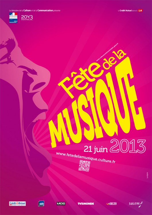 Affiche Officiel de la fête de la musique 2013